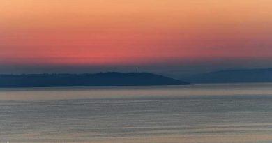 Sunrise over St. Austell Bay